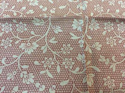 【傑美屋-縫紉之家】日本原裝進口棉布~紅色小花#L302750拼布配色好幫手#30*27CM