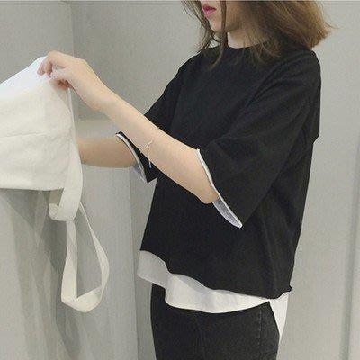 《VillaDress 鄉村小屋》✢韓版短袖T恤女寬鬆個性半袖百搭中袖款夏上衣學生✢(可配NIKE,愛迪達球鞋)