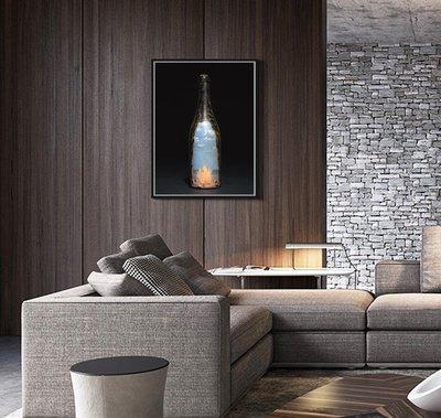 C - R - A - Z - Y - T - O - W - N 抽象酒瓶掛畫 比利時 荷蘭 美式藝術抽象主義掛畫