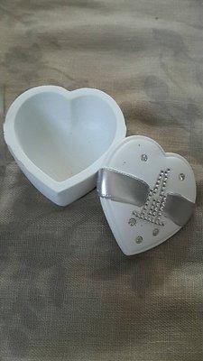 【紫晶小棧】愛心 首飾盒 珠寶盒 小物收納 戒指 耳環 收納盒 空盒 小物整理 置物 ( 2個)