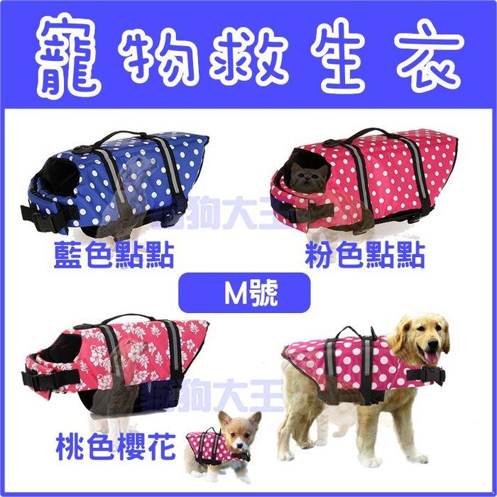 *貓狗大王*夏季救生衣 狗狗救生衣 運動海灘朔溪玩水 狗衣服 寵物戲水衣---M號