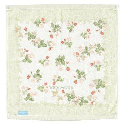 ~~凡爾賽生活精品~~全新日本進口WEDGWOOD小紅莓造型綠色純棉小方巾~日本製