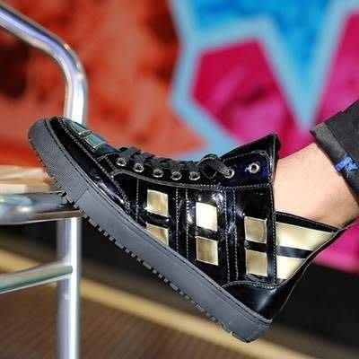 板鞋 綁帶休閒鞋-時尚潮流帥氣金屬男鞋子2色73ix76[獨家進口][米蘭精品]
