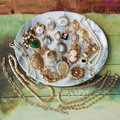 精緻life 歐洲古董飾品 西洋巴洛克vintage項鏈 優雅大氣女款配飾