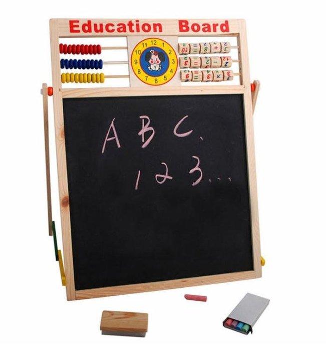 兒童畫板雙面多功能磁性畫板教具大寫字板磁性大畫板玩具