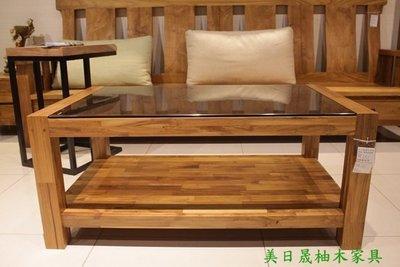 【美日晟柚木家具】CT13 玻璃大茶几.客廳茶几.臥室茶几.玻璃造型桌.原木傢俱