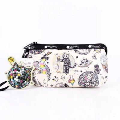 LeSportsac 8105 搖滾貓 手掛繩多夾層化妝包 零錢包 收納包 降落傘防水 限量 大號