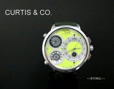 【摩利精品】CURTIS & CO. BIG TIME WORLD 四時區大視窗限量錶 *真品* 低價特賣