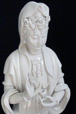 觀世音菩薩蓮花寶座德化白瓷器佛教藝術品佛像雕塑藝術品宗教藝術品托缽【心生活美學】
