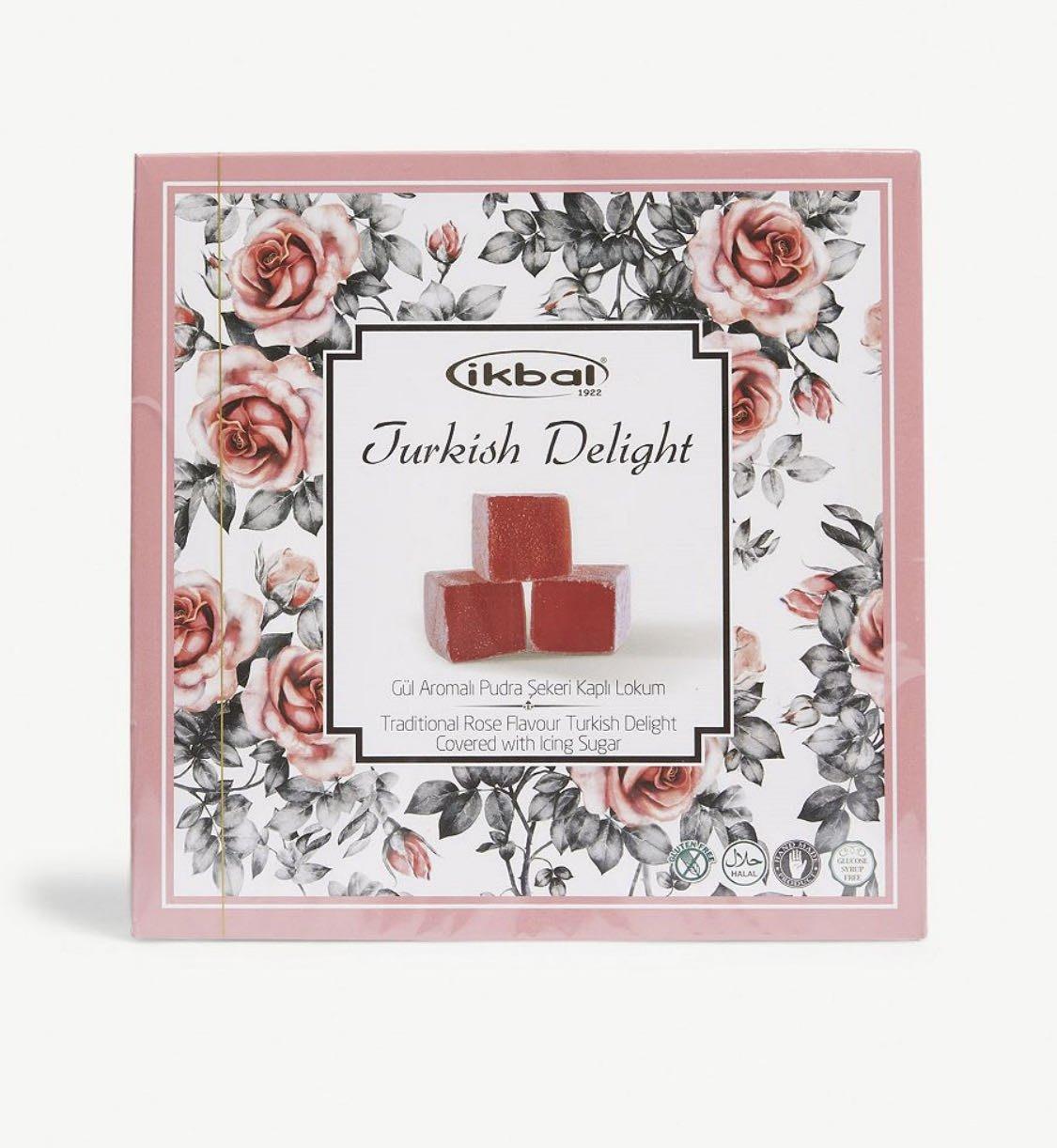 (預購)(玫瑰口味)Ikbal 土耳其軟糖 Rose Turkish Delight 400g
