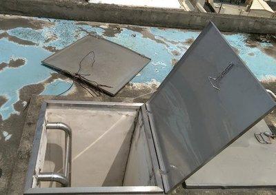 不鏽鋼天窗 水塔蓋 鐵皮屋逃生孔 烤漆浪板維修孔 水塔清洗出入孔 PC採光罩出入蓋