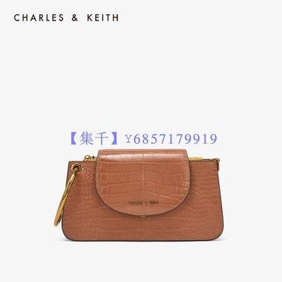 【集千】CHARLES&KEITH女包CK6-10700897女翻蓋迷你手拿包單肩包