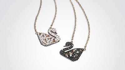 ☆ SWAROVSKI ☆ 美國秋冬新款 Facet Swan 項鏈, 黑色, 混搭多種鍍層