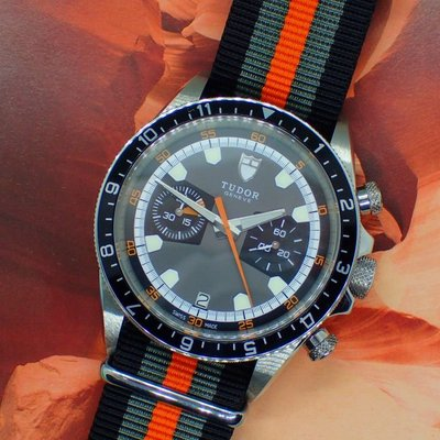 2019年保單我最便宜TUDOR帝舵70330N HeritageChrono蒙地卡羅計時碼錶灰面貓自動上鍊鋼帶機械錶