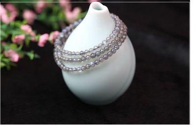 水晶翡翠寶石拉長石手鍊 多圈多層手鍊 蓝光月光石