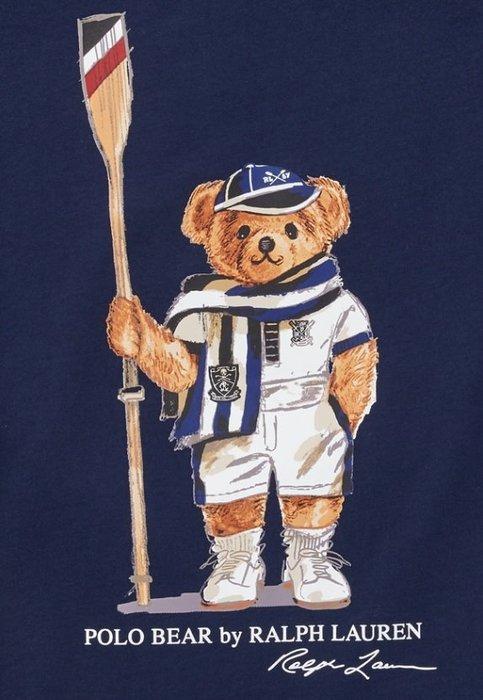 Ralph Lauren POLO 限量polo熊 青年款 印花 T恤 現貨 藍/帆船熊