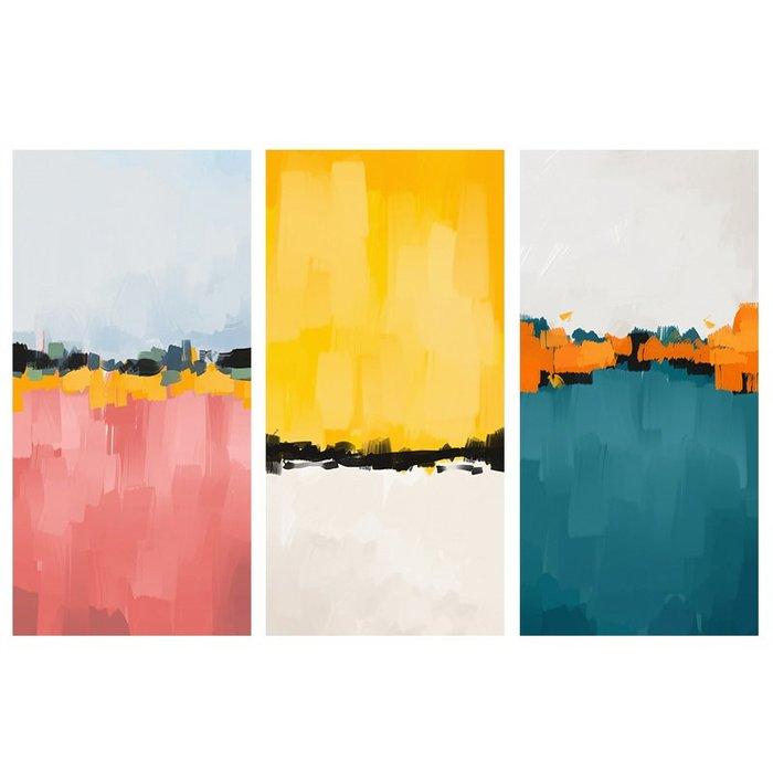 北歐現代抽象玄關風景壁畫裝飾畫心油畫布打印噴繪