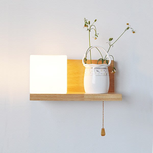 壁燈北歐簡約床頭燈中式LED實木臥室客廳陽台樓梯過道墻壁燈具220V 【極有家創意生活館】