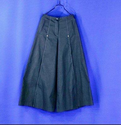 【性感貝貝1館】Five Pence 五個銅貨灰色牛仔單寧喇叭寬版褲裙, Beauty Bottom 李卉羚李春枝六藝風