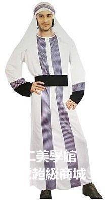 【格倫雅】^萬聖節迪拜王子衣服成人阿拉伯酋長國王子長袍男穆斯林表演服裝 cosplay