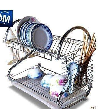 【德興生活館】新品水架 碗碟架 雙層置物架廚房用品 碗架收納碗盤架 掛板置物架 生活用品