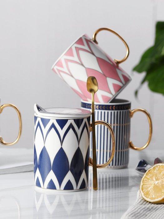 陶瓷馬克杯帶蓋簡約ins北歐風格咖啡杯子個性復古男女大容量水杯玻璃水杯 陶瓷水杯 保溫杯 熱賣 保溫瓶 隨身杯 茶杯