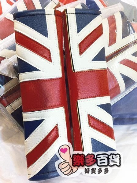 樂多百貨 英國國旗安全帶套護肩套紅藍白皮革黑碳纖維全車系通用MINI COOPER