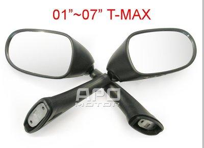 APO~D65-6~臺製-2001-2007年TMAX500專用後照鏡-可摺式~01-07年適用~整組L+R出售