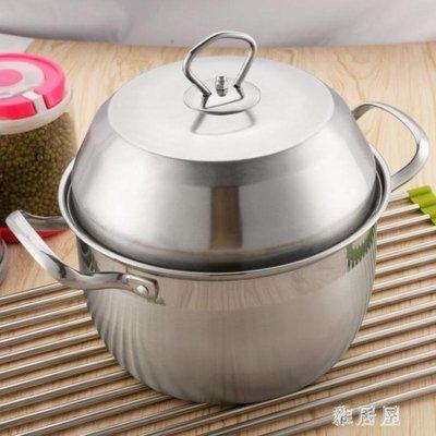 湯鍋不銹鋼鍋家用小湯鍋燃氣電磁爐鍋通用鍋加高加厚 YC412