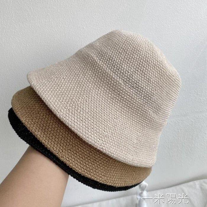 【免運】日本訂單亞麻漁夫帽遮陽帽可摺疊薄款夏季女士復古防曬日系帽子 YMYG70204