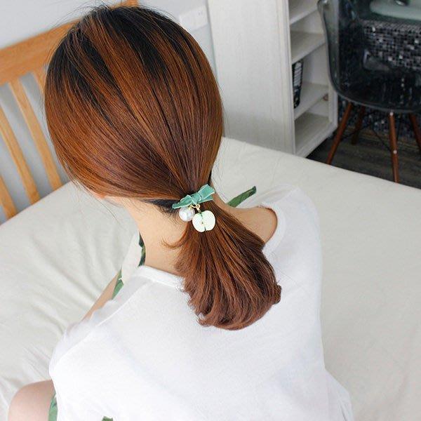 《Jami Honey》【JJ0958】日韓風甜美水果珍珠裝飾 髮飾 髮圈