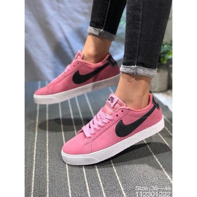 耐克 Nike SB BLAZER ZOOM LOW 開拓者 粉色 時尚 年輕潮流 個性 百搭款 舒適 低幫 休閒板鞋
