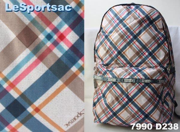 【LeSportsac】100% 全新正品 7990 D238 / MANTAUK 基本款 大型 後背包【適A4文件】