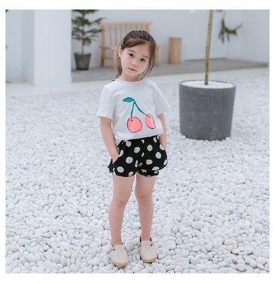 【Mr. Soar】 C390 夏季新款韓國style童裝女童短袖上衣+短褲套裝 中大童 現貨