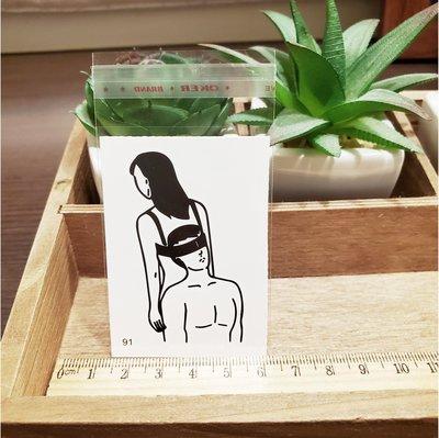 【萌古屋】百態人生91單圖 - 男女防水紋身貼紙刺青貼紙 K43