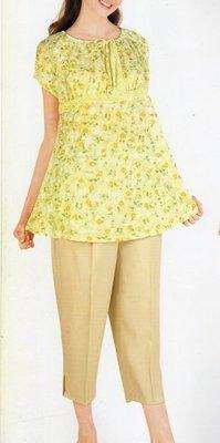 ☆╮十月美人╭☆只賣159元僅一套【856】清爽風情˙縷空燒花抽繩領褲裝~綠