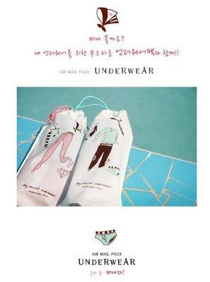 -670巷:【韓國Air Mail Pack】旅行收納束口袋組合防水防潮【16*30公分】【內衣收納袋下標區】