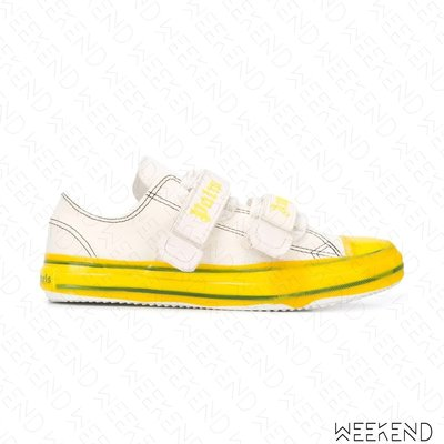 【WEEKEND】 PALM ANGELS Velcro Vulcanized 魔鬼氈 帆布鞋 休閒鞋 黃色 20春夏