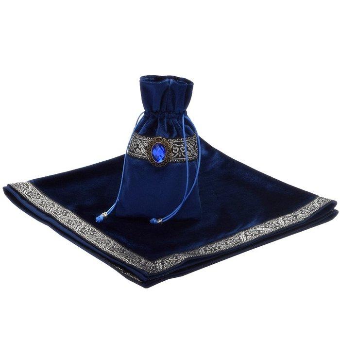 預售款-LKXD-塔羅牌占卜專用桌布三色可選厚絲絨送聖賢之石牌袋桌遊