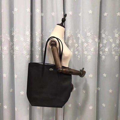╭☆包媽子店☆ LACOSTE 黑色單肩包