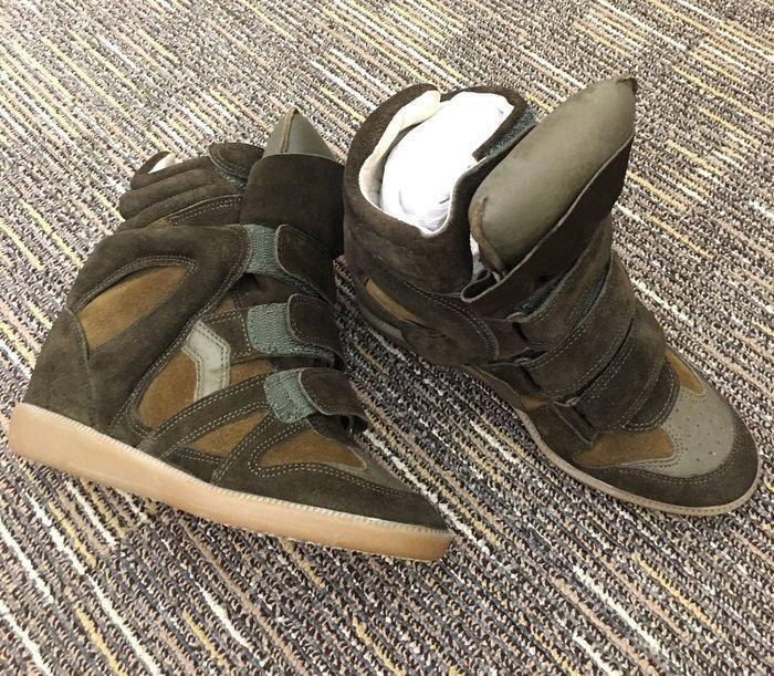 喬瑟芬【ISABEL MARANT】限時賠售特價$19800~2014秋冬  * Khaki 隱形內增高 麂皮 休閒鞋