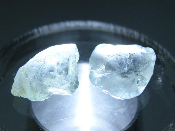 拓帕石 Topaz 天然無燒無處理 自然藍 原礦 標本 礦石 06【Texture & Nobleness 低調與奢華】