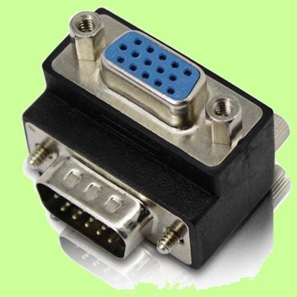 5Cgo【權宇】90度直角轉接頭 24+5PIN DVI公轉VGA母 五顆組 或 15PIN VGA公對母10顆組 含稅