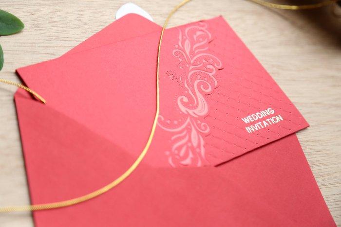 立泰喜帖 雷雕婚卡【特價26元】結婚訂婚歸寧 #5897