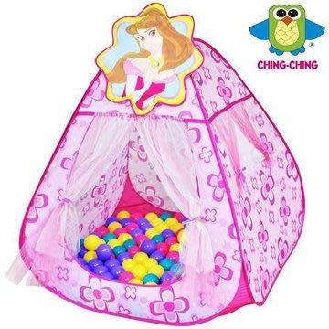 【魔法世界】CHING-CHING親親 甜蜜公主折疊遊戲屋+100顆球 (CBH-13)