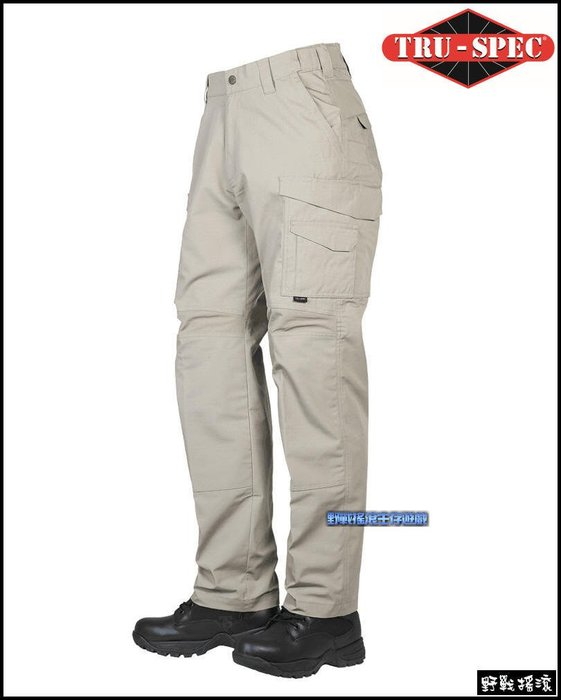 【野戰搖滾】美國 TRU-SPEC 24-7 PRO FLEX 戰術長褲【卡其色】 迷彩褲勤務褲工作褲特勤軍警特警褲