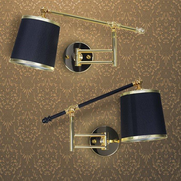 【58街】「擺臂床頭燈、飯店酒店歐式壁燈、工程壁燈 」極致典雅品味/燈具/美術燈。複刻版。GK-422