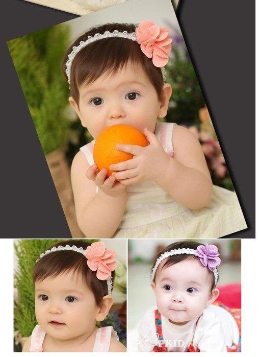 =寵喵百貨= 寶寶拍照必備 點點立體花朵蕾絲髮帶 點點花朵髮帶 點點立體花 寶寶髮帶 公主頭飾 大花蕾絲嬰兒髮帶