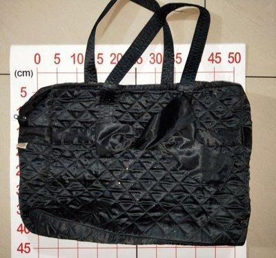 【二手衣櫃】NaRaYa 曼谷包 大型黑色 手提肩背包 大方包 媽媽包 大號旅行包 空姐包 耐用帆布包 1070903