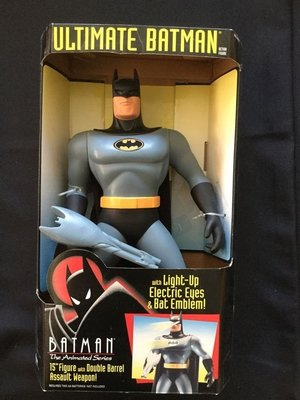 金錢貓雜貨 全新 DC Kenner 15吋 The Animated Ultimate Batman 蝙蝠俠 眼胸可亮